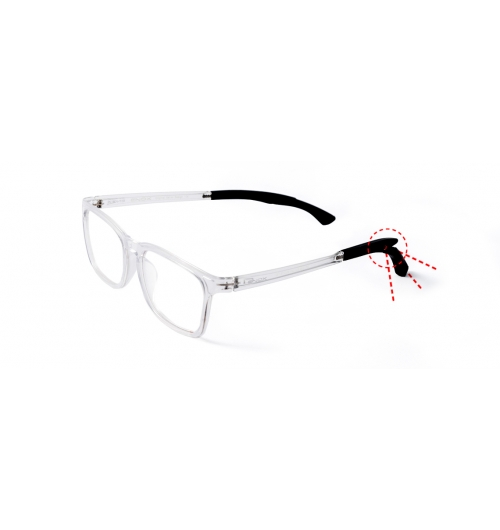 """ET139/S - An optical frame of the very last line """"FREESTYLE"""", a line tailored to meet the teenagers which are always on the go and involved in many activities. The frames made in high-strength Technopolymer have a special mechanism in the temples tips that make them adaptable at convenience and stable in all dynamic activities.  Squared design, they are available in a wide range of colors always trendy and very popular with young people, ranging from full black to transparent red, turquoise, blue and rose.  Suitable for all kind of sports, they keep the comfort and the lightness in all daily activities, non-sports too"""