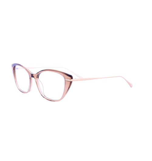 The Koali Collection - 20065 - Morel's Koali collection features sophisticated and colorful frames for every woman. This new concept from Morel's Koali collection is influenced from a cat eye shapes of the 1970's and translucent colors. It combines the vintage trends with those of today.   This concept is complete with models that have acetate fronts finishing with a contrasting endpiece ending at the front that gives the overall frames a glamorous touch. The frame is finished with feminine colors.