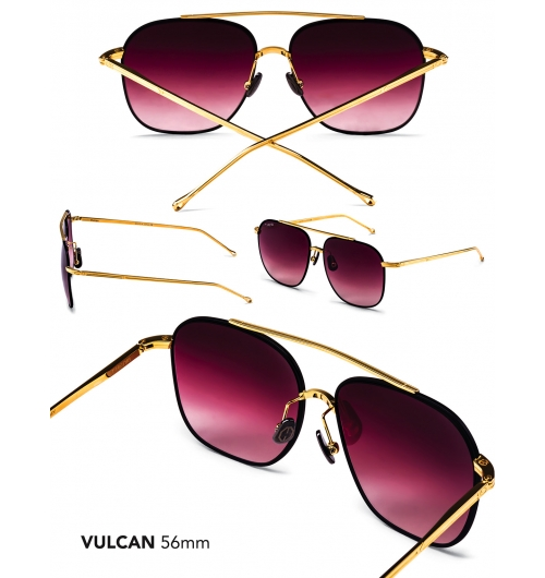 Vulcan - An iconic twist of the modified variation aviator, the angles and lines of the Vulcan are more pronounced for aerodynamics, as well as an incredible fit. This lightweight, variation frames accentuate the jawbone while providing optimal coverage. Ergonomically designed to fit most unisex face shapes.