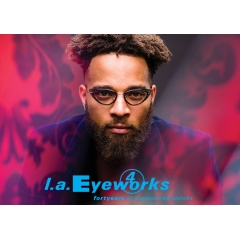 L.A.EYEWORKS - VARDA - Material: Acetate, Titanium Measurements: 50-19-135 Handmade in Japan