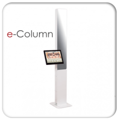 e-Column - PD measurement systems are nowadays a must-have for selling custom-made lenses. The e-Column system – developed by Acep – brings all the required features to a reliable, simple, quick, easy, well designed and technologically one step ahead hardware equipment.  1. Simplicity : a video system with a built-in touchscreen, e-Column requires no mouse or keyboard. Its intuitive and immediate use doesn't require any training. The end-user just has to let himself be guided.  2. Rapidity: Measurement is done right away based on an on-screen frozen image. Results are provided within 20 seconds. The computed results could be saved and accessed later on for a-posteriori checks.  3. Accuracy: Thanks to the automatic search software, all the measurements needed for the lens centering are available from a single picture. The accuracy of the measurements is optimal.