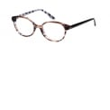 """IK1015 7009 - <p>Junior model with girls retro forms and trends with the ADN women in Girl –Acetate marbled, tone on tone for a fashion Junior look – All models are Flex - with a small pin metal part on temples<br /> An exclusive all over """"flower"""" IKKS theme take on the IKKS Kids dressing</p>"""