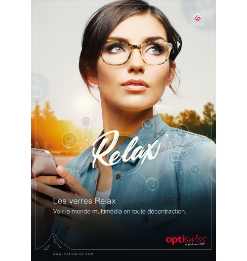Relax S-Fusion - Single vision lenses with slight close range support – Enjoy the multimedia world.