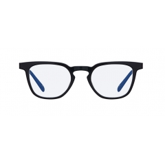 TUNER - This full acetate optic features well-balanced Wellington shape design and edgy outer line. It has both clear and tinted lens models