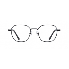 FOY - The squared octagonal shape of pair is designed with 3mm thick rims, creating strong and solid vibes. Especially, the bridge is interlocked with rims, showcasing structural silhouette.