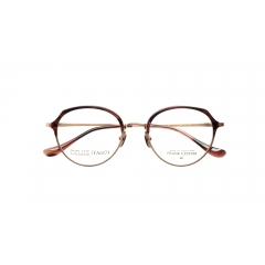 FA6171 - Browline styled glasses with thin acetate on B-titanium frame
