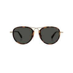 SHUFFLE - Squared shape of metal and acetate combination sunglasses, Shuffle boasts its uniqueness by naturally connected crossed bridge of two acetate frames.