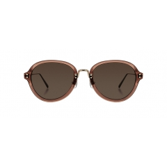 NOOK - Nook is a vintage aviator style sunglasses that is created with combination of acetate and metal.  Paralleled rivets of bridge and end pieces of both sides give balanced look of NOOK.
