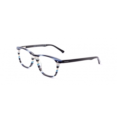 ET123 - The model is part of the new ENOX TEENAGER line and is made of matt acetate. Available in 6 different colors, the model has two-tone temples. The outside has the metal logo and perfectly follows the full-color version of the front. Inside, however, the temples have different color patterns with respect to the front but perfectly matched, except for the black and the brown turtle which has the same color outside and inside.