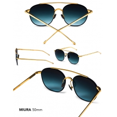 Miura - A contemporary blend of nostalgia and performance, the Miura is a micronized and ocular aviator that is both innovative and ultra-lightweight. This slender shape is more complementary to narrower unisex face shapes.