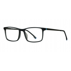 CO1810 C02 optical - <p>An essential and elegant masculine model, perfect for an office look. The gray plastic front is accented by silver-plated metal temples, while the pop-colored tips give a playful touch to the whole look.</p>