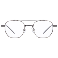 BRICK - This octagonal shape of metal frame features a great balance between a thin sharp brow bar and angled bridge. The size of the frame is small enough, so that it is wearable as well as fashionable.