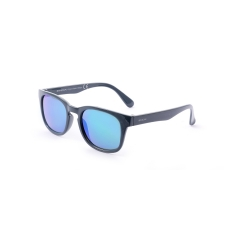 EJ501 - A sunglasses model of the ENOX JUNIOR  line, shiny acetate with a charming and essential design given by its distinguishing key hole bridge. Available in four colors from black to dark blue, from grey to bright red. The filters, mirrored or polarized ensure the right protection for the children's eyes.  The model is more suitable for boys but it is easily adaptable to the faces of the young girls too. Extremely comfortable and light, it gives a sporty and casual look to the children who become more and more demanding.