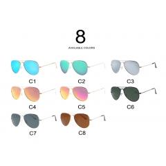 New arrival latest trend modern design multi-color vintage fashionable custom sports sunglasses - <p>Place of Origin:Zhejiang, China (Mainland)<br />Model Number:M6004<br />Age:Unisex<br />Frame Color:Gold, Silver, Black<br />Material:Metal+TAC<br />MOQ: 12pcs/color<br />Size:142x145x48mm<br />Certification: CE FDA<br />Usage: Eye Protection Decoration</p>