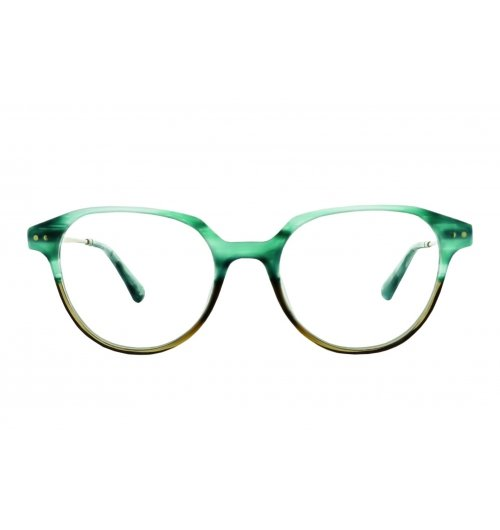 Davison C3 - Davison is an angular round eye frame in opaque acetate with etched metal temples. Rounded in shape, this unique and elegant frame adds a stylish statement to your wardrobe.