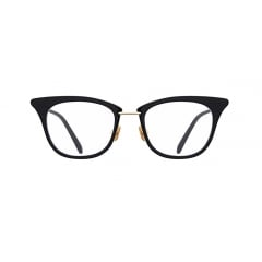 "DUKE - Just like its name, ""DUKE"", this sophisticated cateye acetate frame is accented with golden thin metal, surrounding the rims. It cannot be described just as a ""feminine"", because its squared line of the rims and short straight bridge enhance unisex vibe"