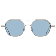 PRISM - Octagonal shape of these sunglasses feature a well-balanced long brow bar and a short bridge. Especially the brow line, thinner than bridge line, are curved along rims, creating unique silhouette of the frame. These sunglasses are small enough, so that they complete a classic outfit when they are worn.   19g / STAINLESS STEEL & b-TITANIUM NOSE PAD - TITANIUM(IP)