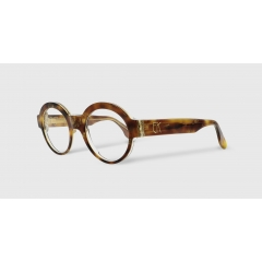 EK-1502 50-22 - Retro and iconic, Emmanuelle Khanh revisits the round glasses. The symmetry and purity of these lines ensure the elegance and femininity of the silhouettes.