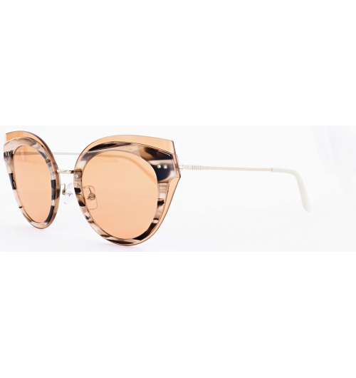 The Azur Collection - 80027 - A bold feminine frame that draws inspiration from the glamor and fashion of the sixties. It includes all the key ingredients of the vintage trend: oversize cat eye shapes, warm transparent colors and shaded lenses.   The hyper trendy front is the result of a true technical feat where glass is used for both protective and decorative purposes, above the acetate eyewires. A way to emphasize the butterfly shapes, and use the transparency of glass to the best effect. Perfect harmony for an extremely feminine result.   The glasses are as protective as they are stylish; Morel has selected the best lenses from Divel Italia. That worldwide specialist of plastic lenses has designed exclusive new lenses for this Morel concept:  -category 3 -polarizing -golden internal non-reflective coating -with a UV 420 guarantee, for additional protection that blocks out UV rays even with the shortest wavelengths.