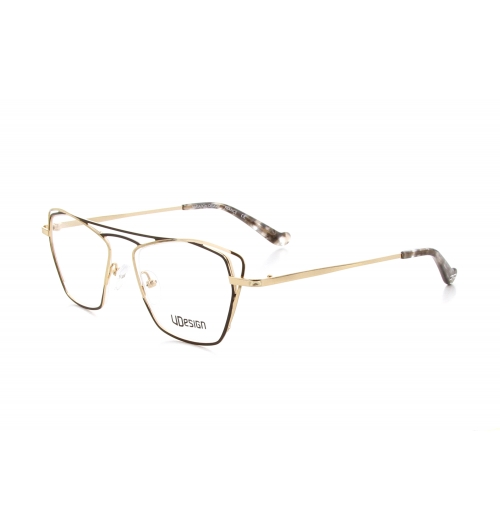 5920 Lina - The art of lines is pushed to its peak with the Lina, it dominates the frame thanks to a double shade with metallic and shiny aspects. The lines intertwine and untie with sensuality for a fine and airy result on the bridge and end piece.