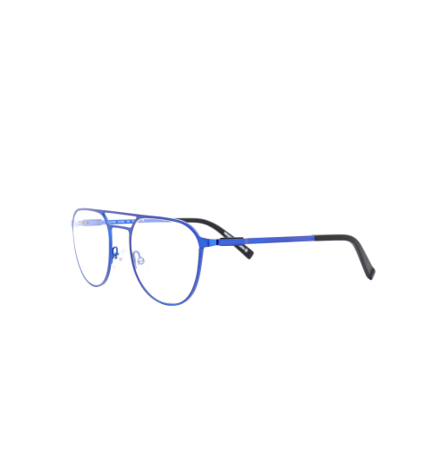 The Öga Collection - 10113 - The universe that Morel proposes through this new eyewear collection is one of bold masculinity. The fronts offer crisp, structured lines, as if in response to the temples, which feature square sections. This is a trendy, architectural look, appealingly highlighted by an expertly selected palette of subtle shades.  A hint of color appears on the temples, providing a touch of intrigue. True to the ideals of functional design, this collection's new hinge pin plays a dual role. Here, the pin ensures the flexible function of the hinge while bringing light and color to the joint.