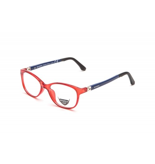 ej18 - A unisex optical frame of the new collection ENOX JUNIOR, made in hypoallergenic acetate, very resistant and easy to adapt to the children's faces. The fine design, barely rounded, is extremely comfortable and trendy. Available in 6 various colors, all combined with the transparencies of the front part and the bicolor temples having a special flex hinge with external 180° opening. The comfort and the child's needs are always put first.