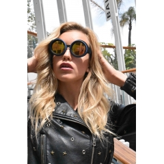 Kaledoscope Retro Goggle - Kaleidoscopes are an iconic variation on the classic Retro Goggle Sunglasses. The halo that surrounds the lens is designed to support colored rings . Rings that you can change depending on your mood, outfit or just for fun.  These are as cool and different as you can get on the catwalk or boardwalk.