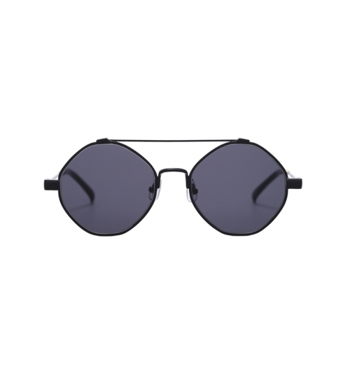 HAMOND - The first all-metal sunglasses in the MUZIK Collection, HAMOND is an octagon-shaped metal frame sunglasses designed with two bridges and bold rims.