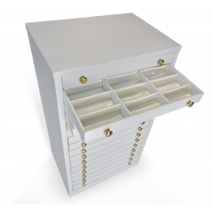 Trunks - <p>Our trunks are realized using high quality finishings and upholstered with imitation leather. All coating materials are carefully selected in order to have the perfect exposition of your optical frames.</p> <p></p> <p></p>