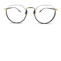 Paulo - <p>It is the contemporary reinterpretation design of the half rim glasses of French novelist, Paulo Coelho.</p> <p>The upper rim is closed by a thin metal thread and bottom rim with thick rim so that even people with bad sight can feel less of the thickness from the lenses.</p> <p>We added details of screw-typed titanium temples that were inspired by the legs of chairs.</p>