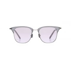 CONVERT - The Browline style sunglasses model. Direct attachment of acetate sheet and lens with metal rim around it specialize its design from others. The longer height of the rim and smooth line of the bridge stands out CONVERT's look.