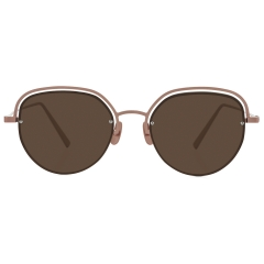 ARCO - An oversized metal sunglasses model made in a Cat-Eye shape, ARCO gives STEALER's identity with the detail of connection between lens and frame with rivets.   28g / TITANIUM