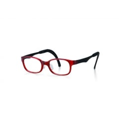 Tomato Glasses Kids D Frame - The Tomato Glasses Kids D range is rectangular in various colours with patterns along the temples.  Each frame comes with all the adjustable features of Tomato Glasses.  This range is designed for children approximately 1 to 8 years old.