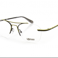 5893 Lincoln - Dynamic and rhythmic, the Lincoln frame offers a balanced hybridization. For the wearer, nothing is left to chance: its pilot shape, bevels on end-pieces, openings on temples, acidulated shades used with precision, everything is optimized to create an intense and audacious harmony. Half-rimeless, half-nylon, this composition associated with dynamic and stretched curves, makes it join the race.