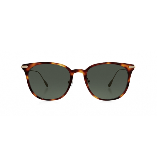 NOEL - Acetate and metal combination sunglasses. Noel's basic and stable shape daily sunglasses that has flexible and comfortable temple made of beta titanium.