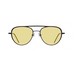OLLIE - These classic Aviator sunglasses are accented with a great balance between a long curved brow bar and a thinner bridge line. Due to the NC technique, the front view seems like bold metallic sunglasses, even though they are actually thin and light. This structural technique allows these metal sunglasses to be lighter.