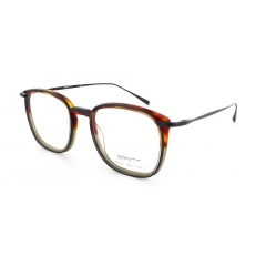 Steve - This model takes inspiration from the Brett DNA brand. The very thin and thick sections bring  an elegant and raw style. This contrast is feasible thanks to the combined materials (Acetate/Stainless Steel).