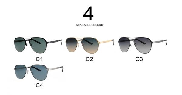 9da4cf44a4 2018 new stylish stainless steel men driving mirror sun glasses ...