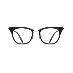 """DUKE - Just like its name, """"DUKE"""", this sophisticated cateye acetate frame is accented with golden thin metal, surrounding the rims. It cannot be described just as a """"feminine"""", because its squared line of the rims and short straight bridge enhance unisex vibe"""
