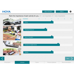 HOYA IDENTIFIER - Define the most personalised lens design to provide the best visual performance at all distances.