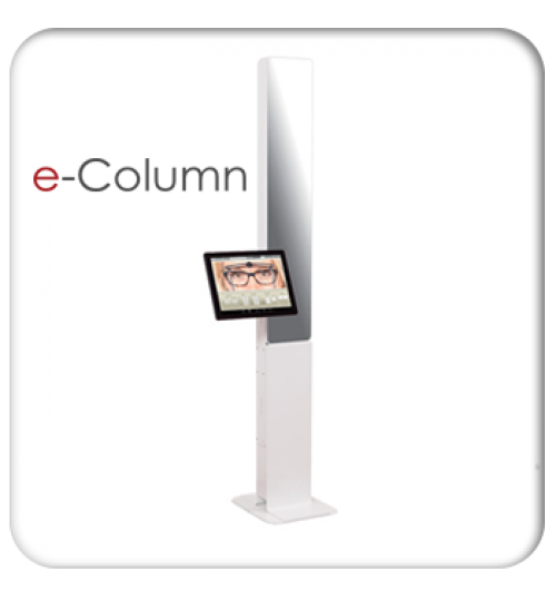 e-Column - <p><strong>e-Column</strong> : The high tech to boost up your custom-made lens sales</p> <p>PD measurement systems are nowadays a must-have for selling custom-made lenses. The e-Column system brings all the required features to a reliable, simple, quick, easy, well designed and technologically one step ahead hardware equipment.</p> <p>3 decisive advantages: Simplicity, Rapidity, Accuracy:</p> <ul> <li> <p><strong>Simplicity</strong>: a video system with a built-in touchscreen, e-Column requires no mouse or keyboard. Its intuitive and immediate use doesn't require any training. The end-user just has to let himself be guided.</p> </li> <li> <p><strong>Rapidity</strong>: Measurement is done right away based on an on-screen frozen image. Results are provided within 20 seconds. The computed results could be saved and accessed later on for a-posteriori checks.</p> </li> <li> <p><strong>Accuracy</strong>:Thanks to the automatic search software, all the measurements needed for the lens centering are available from a single picture. The accuracy of the measurements is optimal.</p> </li> </ul>