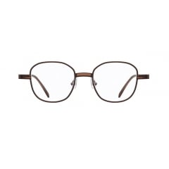 HAZY - The soft octagonal shape of pair structured of two different materials, metal and acetate. Especially, the small parts of transparent acetate details on the bridge and end-pieces showcase uniqueness and polished style of the entire frame.