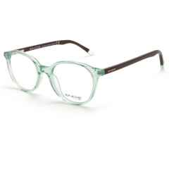 ET133 - The model is part of the new ENOX TEENAGER collection and is made in shiny hypoallergenic acetate, with a rounded design. Available in 6 different colors, all crystal, the model has temples in contrast, with the exception of the full black, provided with flex and have the transparent color of the front in the final part. Sky blue, mint green, straw-yellow, wisteria, pink are the fine and romantic pastel colors to which is added the black, constantly in demand.