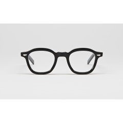 FM1-1 - The combination of original Arnel frame type which was built in France in the early to mid-1900s with elegant lines and volume, and the reinterpretation into a simpler and more practical style in the United States. This piece is a vintage reinterpretation that is neither too simple nor excessive by preserving the elegant lines while ensuring comfort and practicality. The moderate volume and the beautifully curved rims combined with the elongated endpiece are the highlights of this piece. Additional edge (angling) technique technique has been applied to enhance the beauty of the bold, freely-flowing lines.