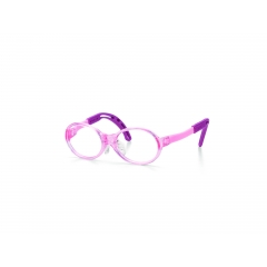 Tomato Glasses Baby Frame - A specialised frame designed for babies aged up to 2 years old. Transparent Pink front frame with very flexible and comfortable temples leading to Pink ear tips.  This frame also comes in Blue and Clear