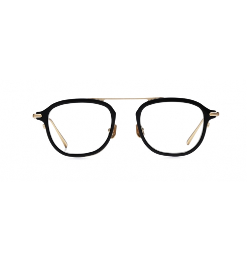 DIG - The Aviator styles optical frame that metal rim surrounds acetate as design point. Top bar of single bridge is welded on metal rim and irregular rim line with material balances DIG's look.