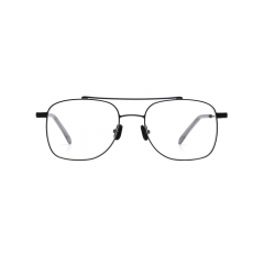 FLASH - The squared Aviator shape metal optical frame that has two bridges. Angulated oversized rim line and various tinted lens version (20-30% depth) points out FLASH's sophisticated look.