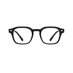 POV - Manufactured from full acetate, this Wellington styled frame features a great structural balance between softly rounded lenses and extra-bold rims, creating contrast effects.