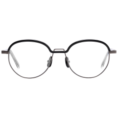KEEN - The original line of top rim and bridge has a more natural curve in this edition. Giving more comfortable fit by enlarging its rim size from 50mm to 51.5mm. The black color of top rim points out its design from Nickel base color of the frame.