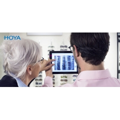 """HOYA VIEWER - Combine efficient business with the freedom to go wherever you please with the HVC Viewer application for your iPad. It uses the latest technology in augmented reality implemented on iPad. Thanks to the clear, intuitive and meaningful content it will become a """"must"""" in your daily practice as it shows how your customers will see with different lenses before wearing them."""